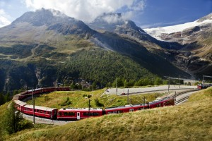BERNINA EXPRESS IN PARK VAL CAMONICA